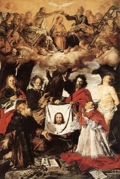 Coronation Of The Virgin With Saints